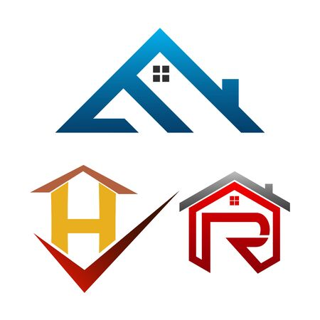 Real Estate Logo set. Building and Construction collection Logo Vector Design Çizim