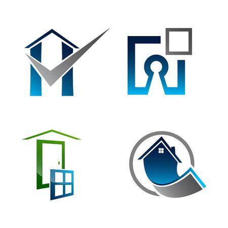 Real Estate Logo set. Building and Construction collection Logo Design Banco de Imagens - 126638714