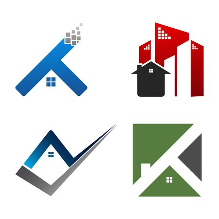Real Estate Logo set. Building and Construction collection Logo Design Banco de Imagens - 126638715