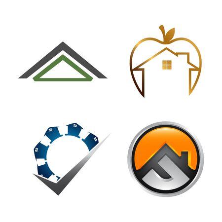 Real Estate Logo set. Building and Construction collection Logo Design