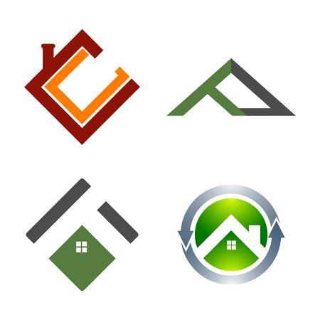 Real Estate Logo set. Building and Construction collection Logo Design Banco de Imagens - 126638718