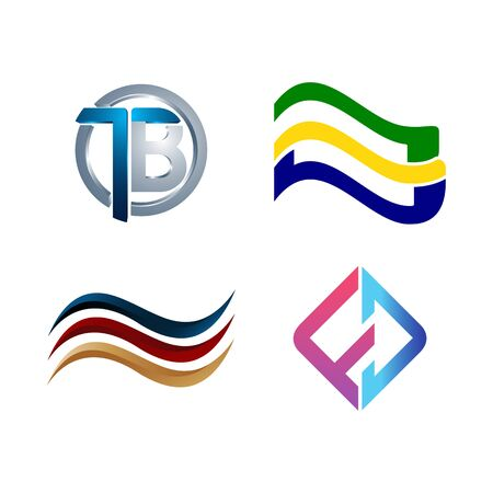 Set of symbol for Business logo design template. Collection of Abstracts modern icons for organization Banco de Imagens - 127065472