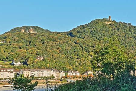 rheintal: Siebengebirge Drachenfels and Drachenburg about Knigswinter