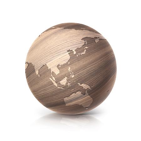 Tennis ball with world map background original illustration stock oak wood globe 3d illustration asia and australia map on white background illustration gumiabroncs Images