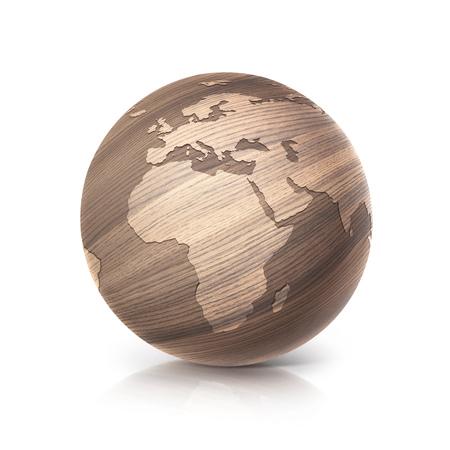 Tennis ball with world map background original illustration stock oak wood globe 3d illustration europe and africa map on white background illustration gumiabroncs Images