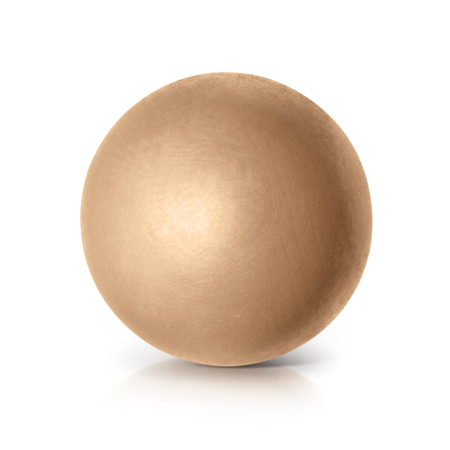 golden ball: Golden ball 3D illustration on white background