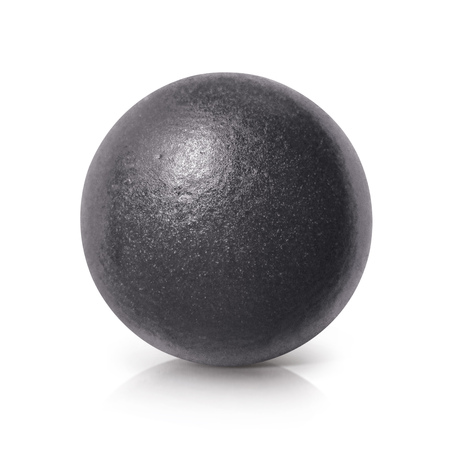 iron ore: Black iron ball 3D illustration on white background