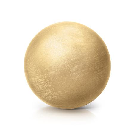 pinchbeck: brass ball 3D illustration on white background Stock Photo