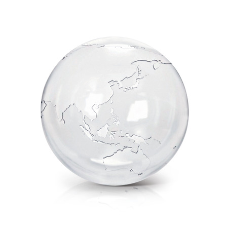 White marble globe 3d illustration europe and africa map on white clear glass globe 3d illustration asia australia map on white background illustration gumiabroncs Images