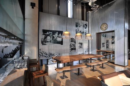 Industrial loft bar style Standard-Bild