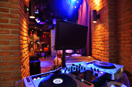 DJ counter at  loft bar style