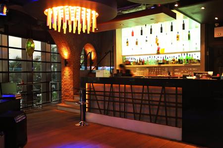 Loft bar decoration style