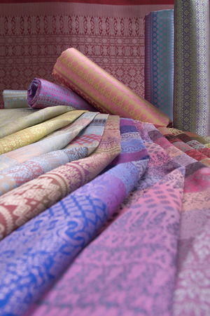 Thai Silk Pattern and Design Standard-Bild