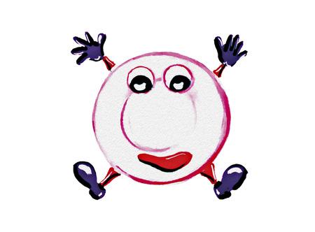 Mascot Dishes on white background Standard-Bild