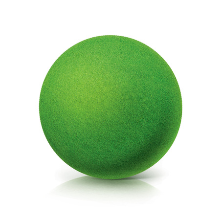 ECO Green ball on white background