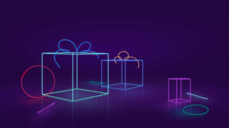 Abstract Neon or LED Background Concept and Design
