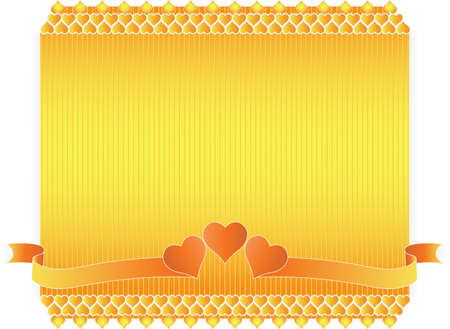 ornamental frame of flowers and hearts on Valentine Stock Vector - 12007203