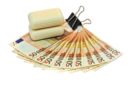 Euro currency and laundry soap photo
