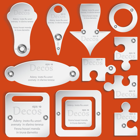 cognate: Set colorless Web elements for design.