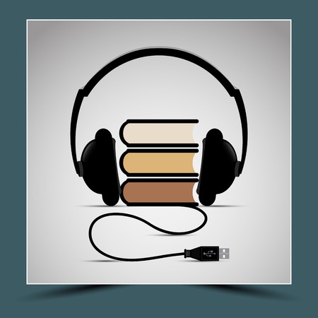census: Books and headphones - to represent the composition listening to audiobooks.
