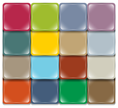 Background of multicolored square volume elements laid on the basis of shingles