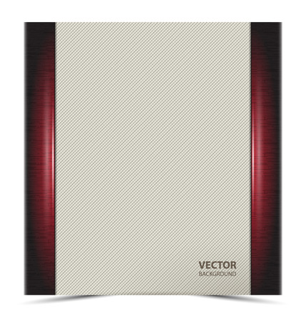docket: Bright rectangular banner, paper, cover with side vertical stripes dark red