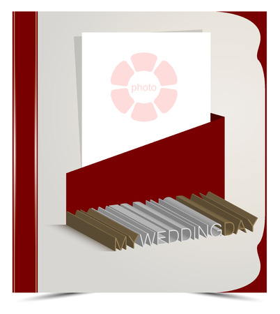 docket: Layout cover with the inscription for the wedding album, the format of 2 x 30