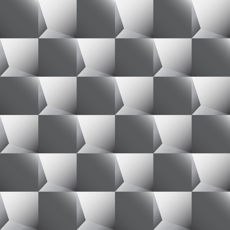 simulate: Seamless abstract texture of gray squares that simulate three-dimensional image