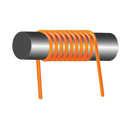 inductor coil Vettoriali