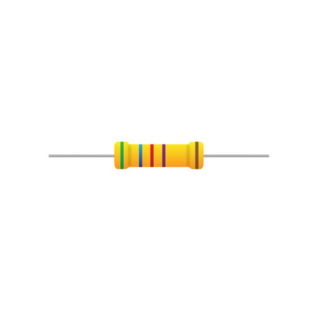 Resistor on a white background
