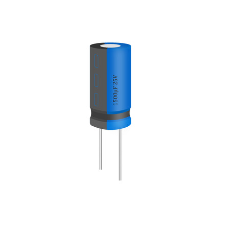 Capacitor on white background