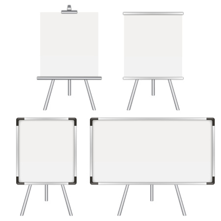 Four whiteboards