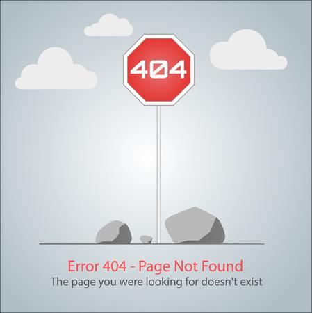 fatal error: Error 404 page layout design Illustration