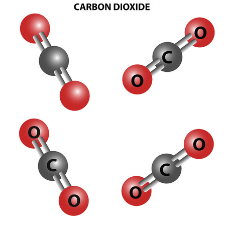 CO2 Carbon dioxide molecule. Chemical structure.fo the views