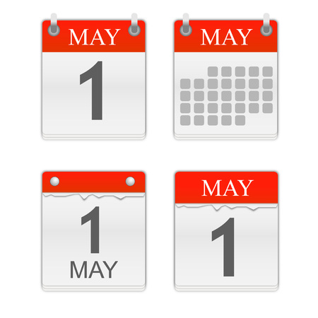 May 1. Calendar icon. Vector illustration