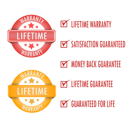 Lifetime warranty. stamp. Sticker. seal.lifeti to sign warranty.