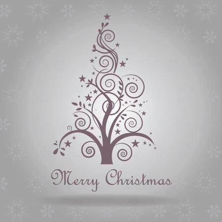 Modern christmas greetings postcard abstract christmas tree modern christmas greetings postcard abstract christmas tree on a silver background vector snow texture stock m4hsunfo