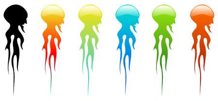 Medusa colors Illustration