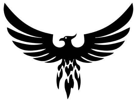 Phoenix bird wings 向量圖像