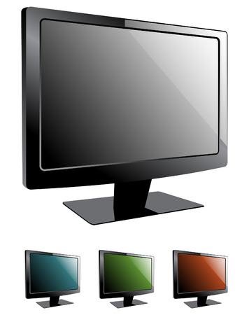 Tv televisions lcd Stock Vector - 5243526