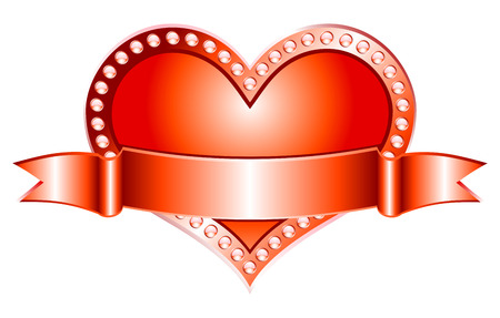 Nice illustration of vector red heart. Illustration