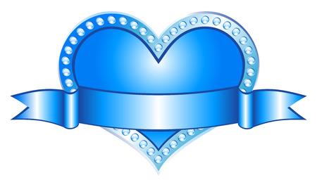 Heart Blue (vector)