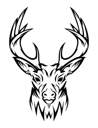 tribal: Animales lindos ciervos (vector)