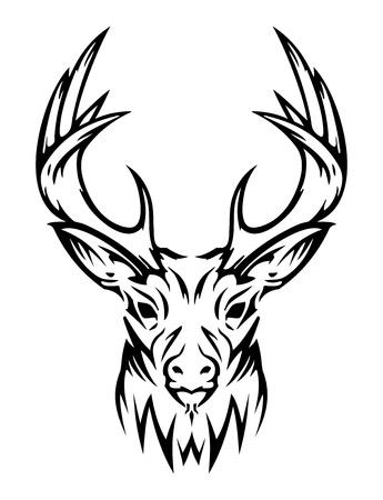 оленьи рога: DEER милые животные (вектор) Иллюстрация