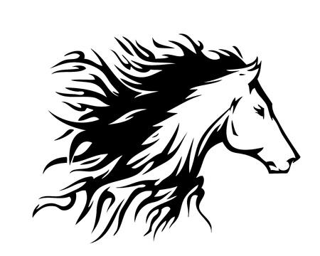 Horse symbol fire  Vector