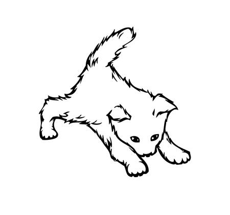 Cute cat (vector