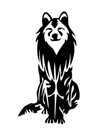 wolf face: Nice wolf , dog family animal.