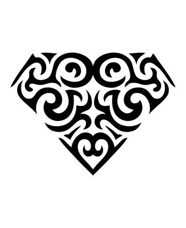 Diamond Symbol Tattoo Illustration