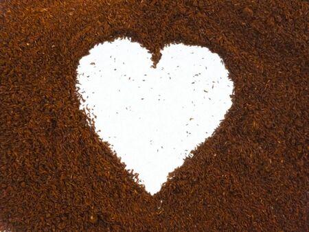 Coffee heart shape, made from ground coffee. 版權商用圖片
