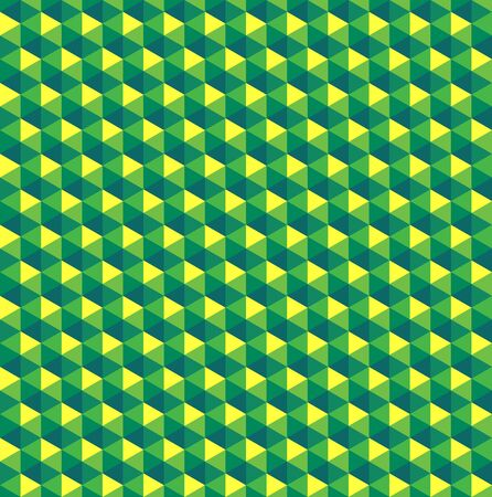 Green color palette in shape of hexagon pattern/texture.